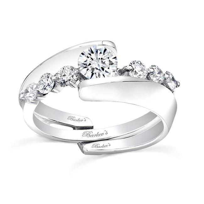 White Gold Diamond Engagement Set 7518S Image 1