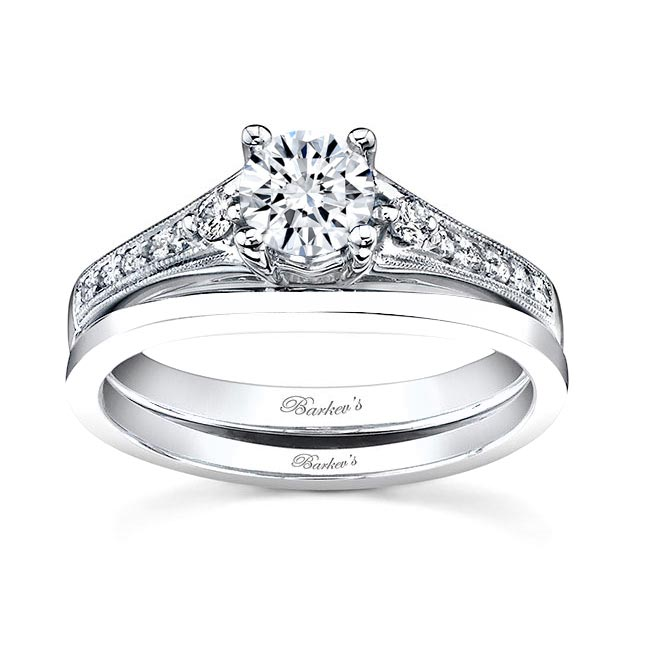 White gold diamond engagement ring set 7519S