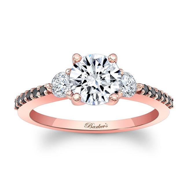 3 Stone Black Diamond Ring Image 1