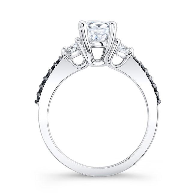 3 Stone Black Diamond Ring Image 2