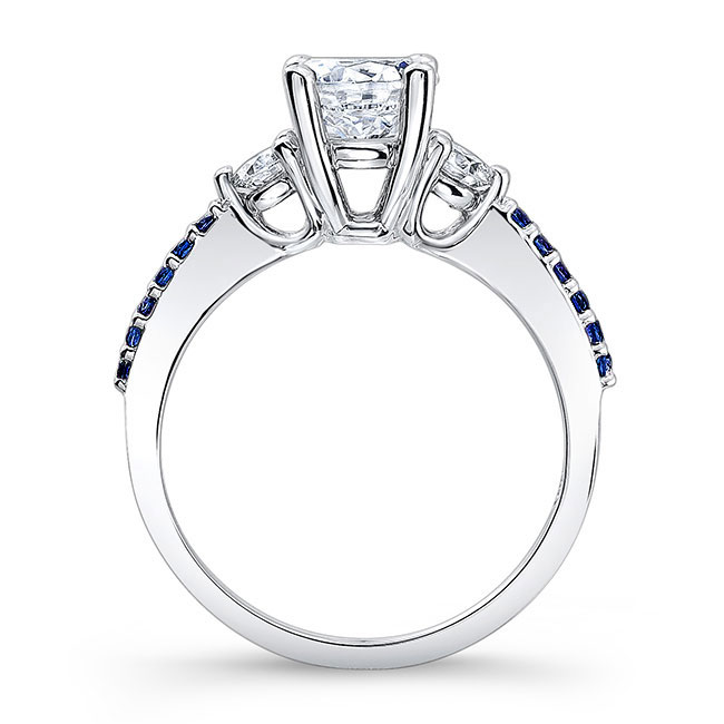 3 Stone Sapphire Ring Image 2