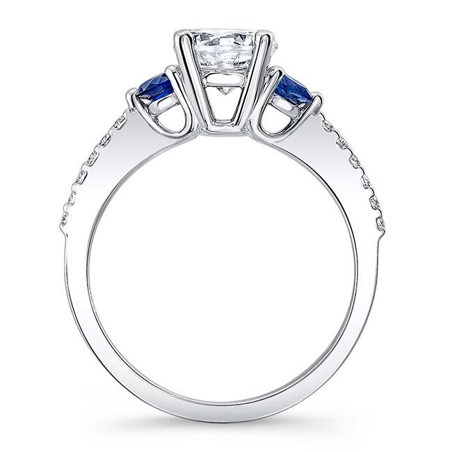 3 Stone Sapphire And Diamond Ring Image 2