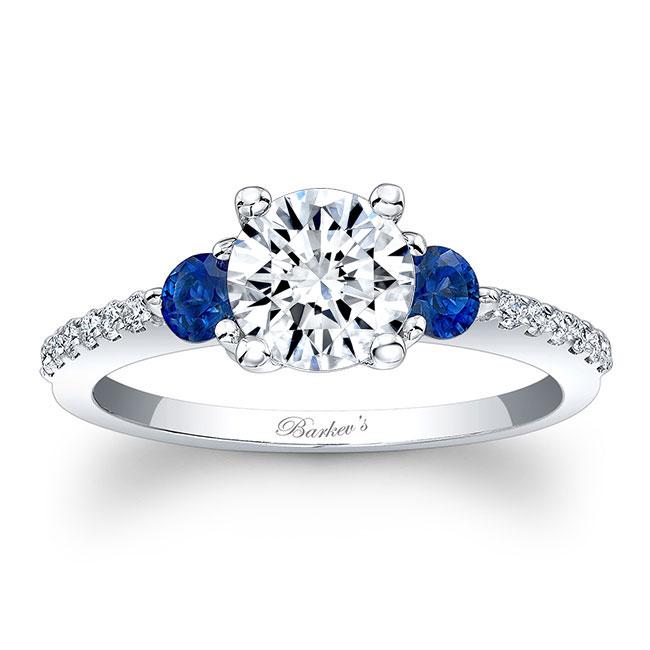 3 Stone Sapphire And Diamond Ring Image 1