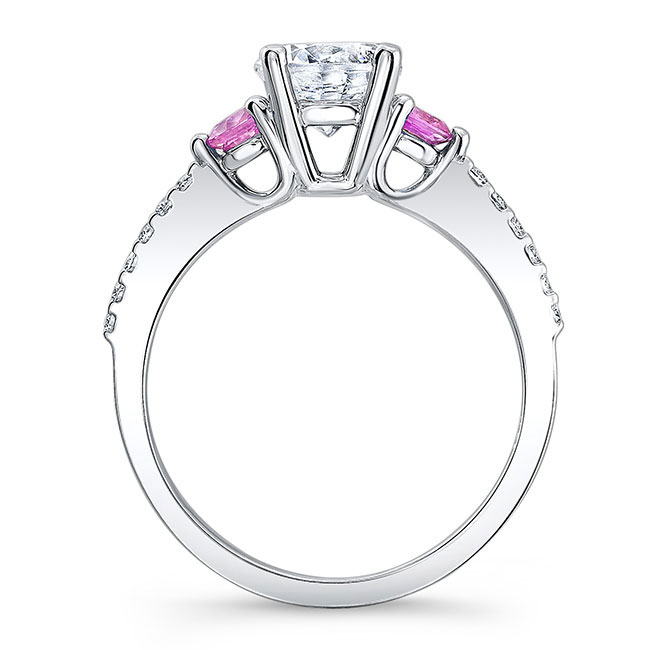3 Stone Pink Sapphire Ring Image 2