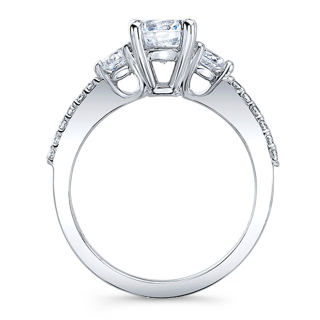 3 Stone Moissanite Wedding Ring Set Image 2