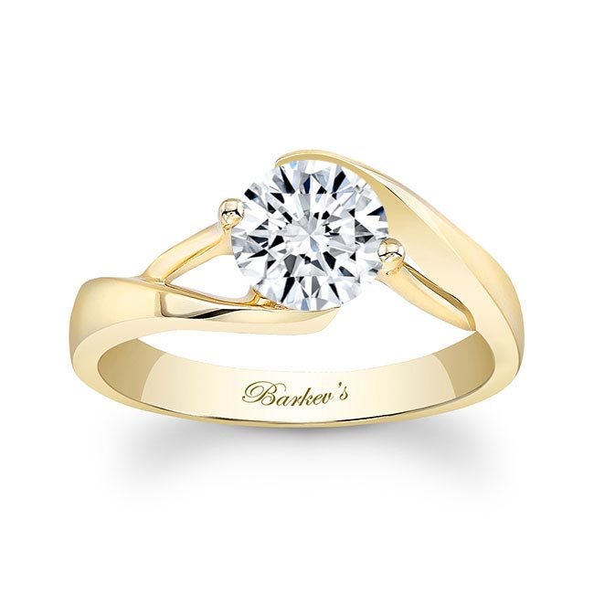 Moissanite Solitaire Engagement Ring MOI-7543L Image 1