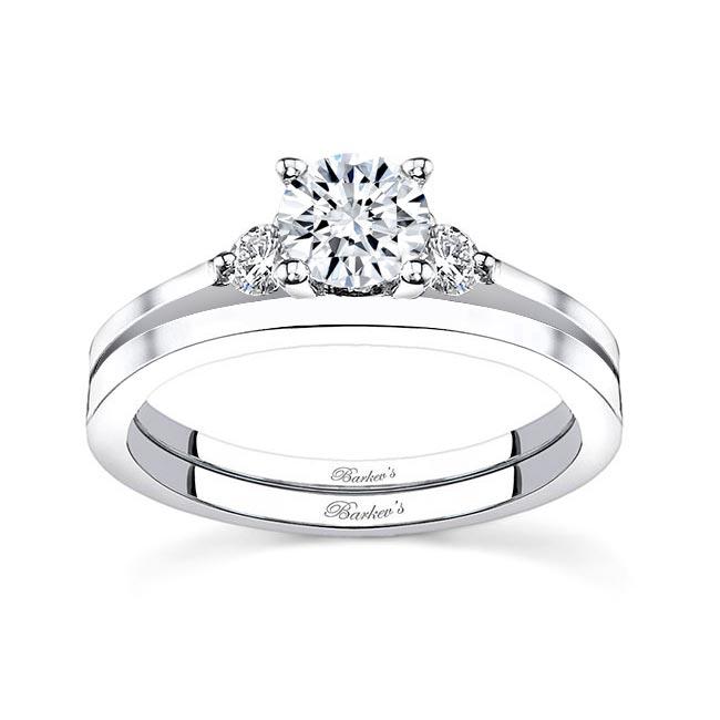 White gold diamond engagement ring set 7593S