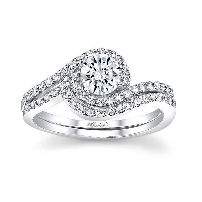 White gold diamond engagement ring set 7597S