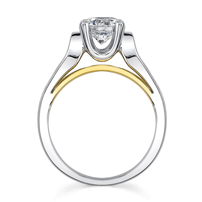 Two tone engagement ring 7599L Image 3