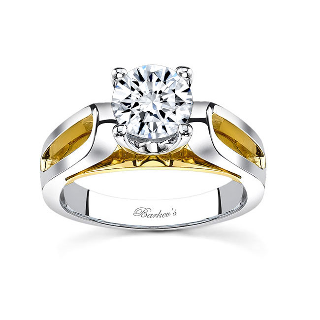 Two tone engagement ring 7599L