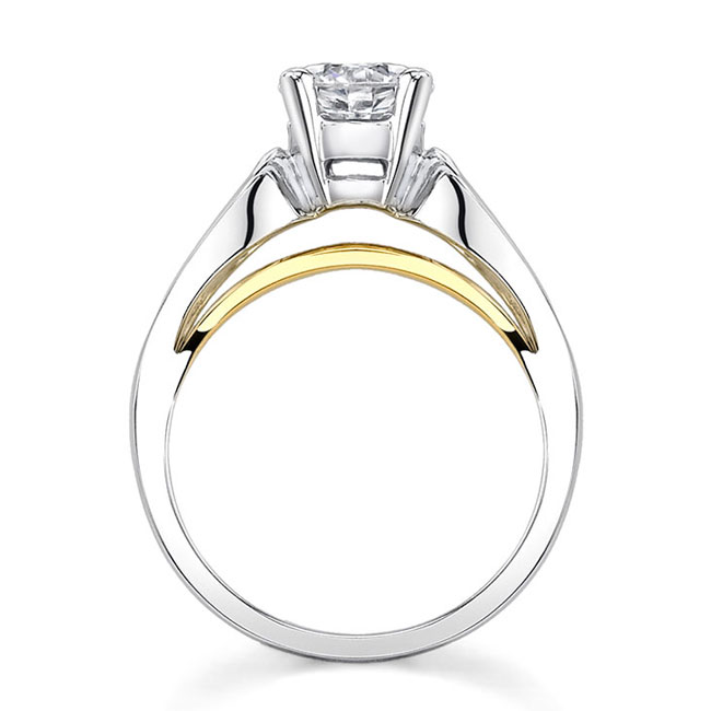 Two tone solitaire engagement ring 7607L Image 2