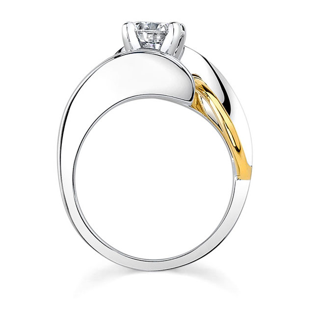 Two tone engagement ring 7609L Image 2
