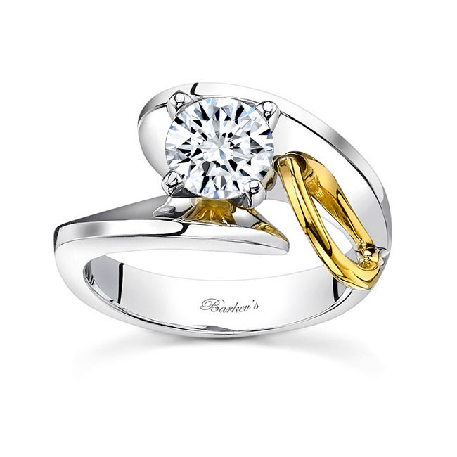 Two tone engagement ring 7609L