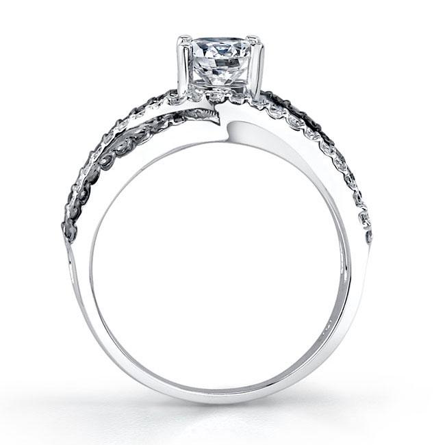 Black Diamond Engagement Ring 7640LBK Image 2