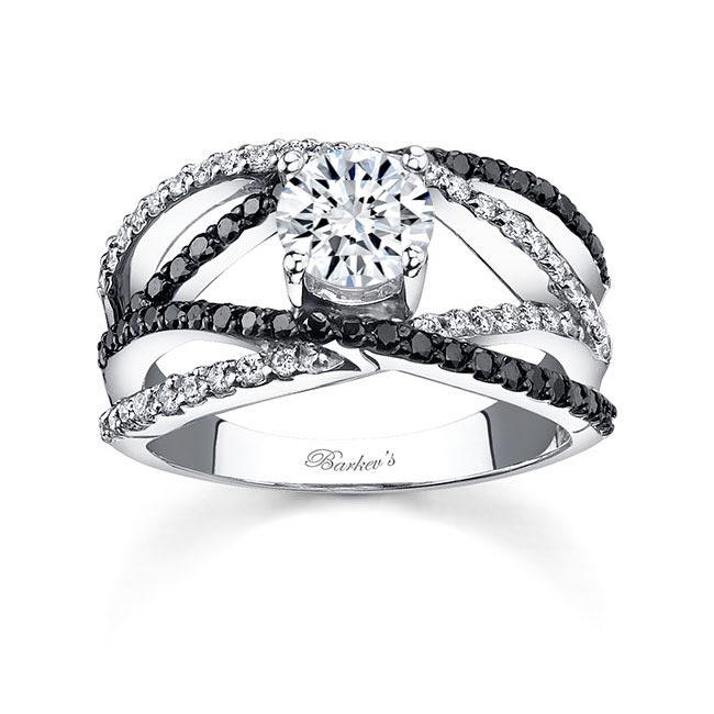 Black Diamond Engagement Ring 7640LBK Image 1