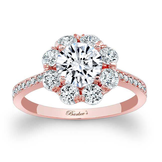 1 Carat Halo Diamond Ring Image 1
