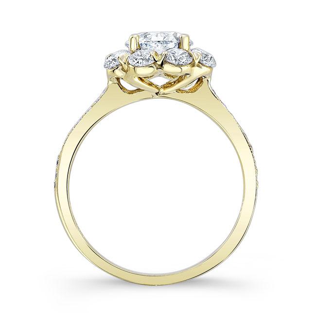 1 Carat Halo Diamond Ring Image 2