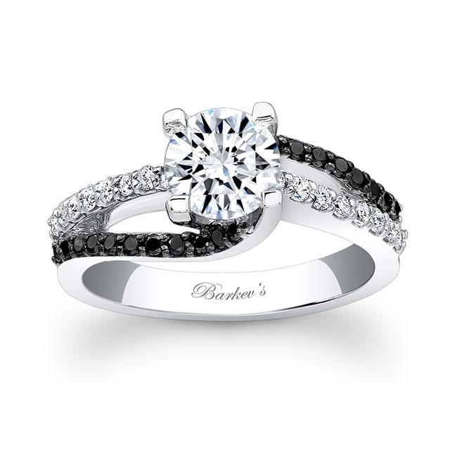 Black Diamond Engagement Ring 7677LBK Image 1