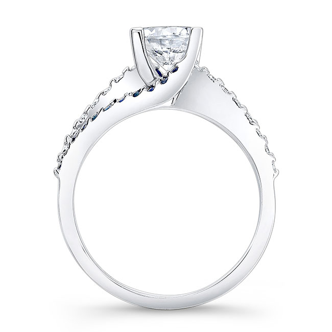Engagement Ring With Blue Sapphires 7677LBS Image 2