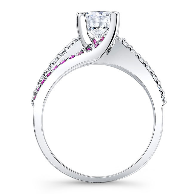 Engagement Ring With Pink Sapphires 7677LPS Image 2