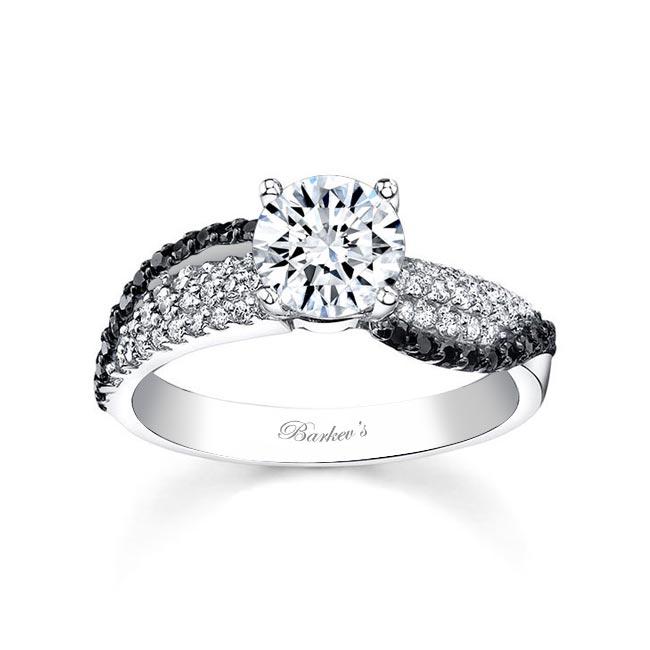 Black Diamond Engagement Ring 7690LBK Image 1