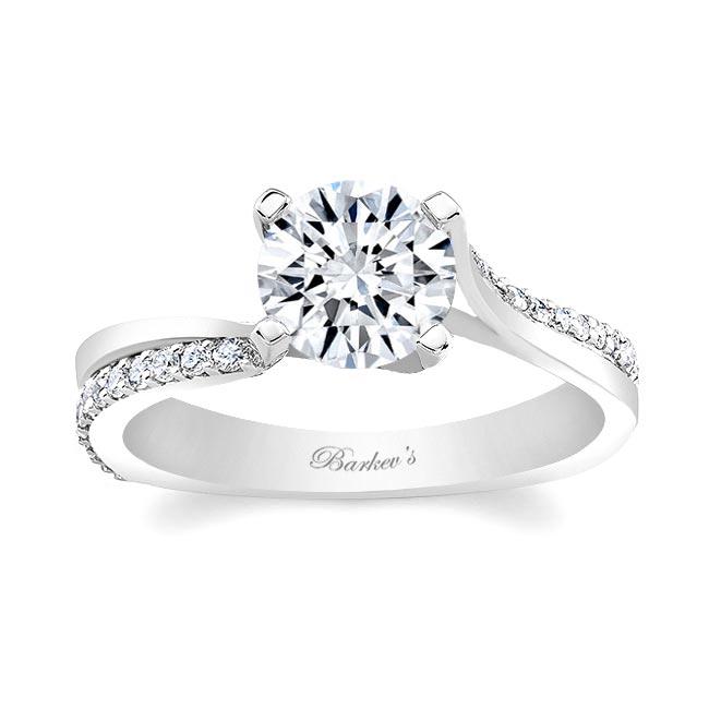 White Gold Engagement Ring 7693L