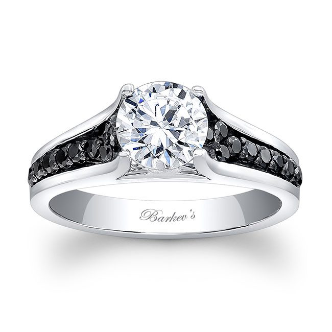 Black Diamond Engagement Ring 7698LBK Image 1