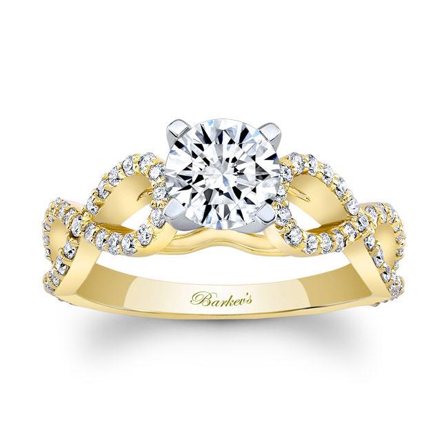Moissanite Infinity Engagement Ring Image 1