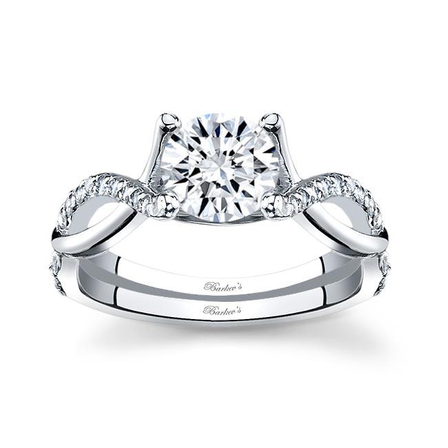 White Gold Engagement Ring 7716L