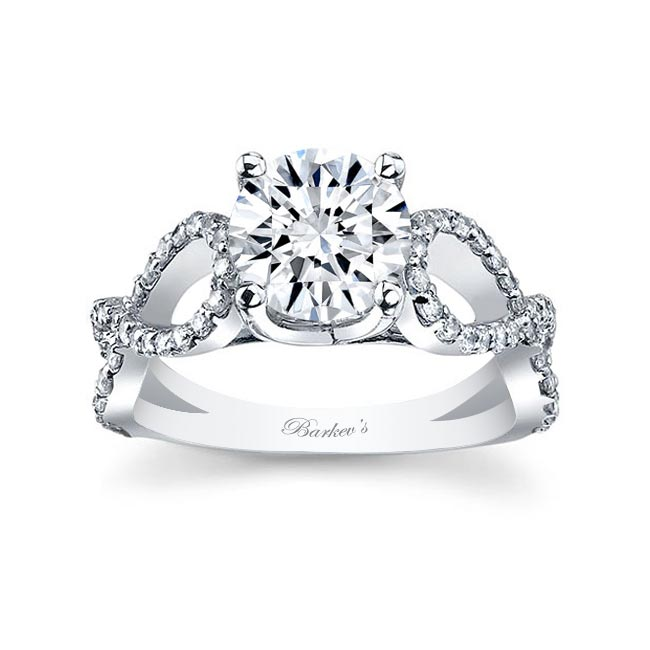 White Gold Engagement Ring 7723L