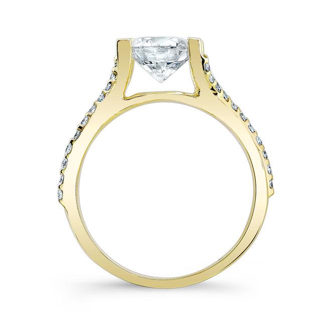 Moissanite Engagement Ring MOI-7725L Image 2