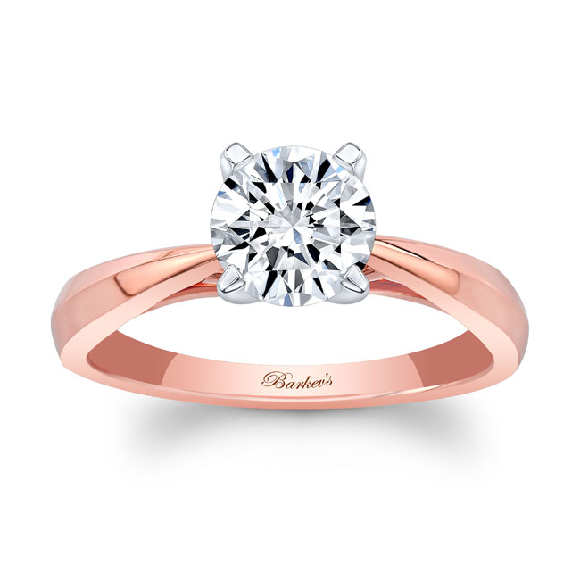 Simple Moissanite Solitaire Engagement Ring MOI-7731L