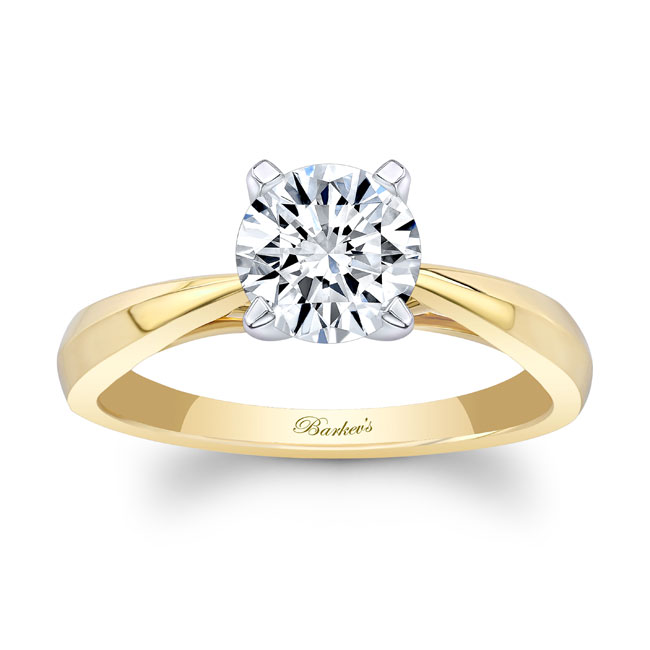 Simple Moissanite Solitaire Engagement Ring MOI-7731L Image 1