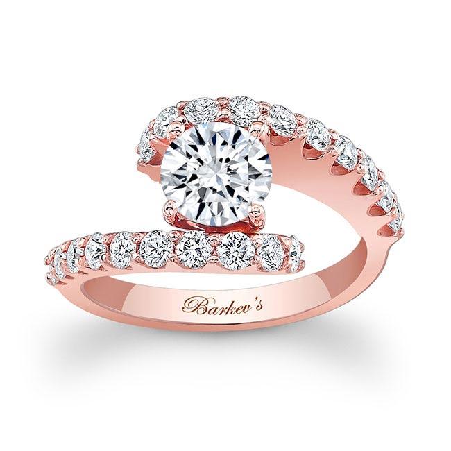 Split Shank Moissanite Engagement Ring MOI-7737L Image 1