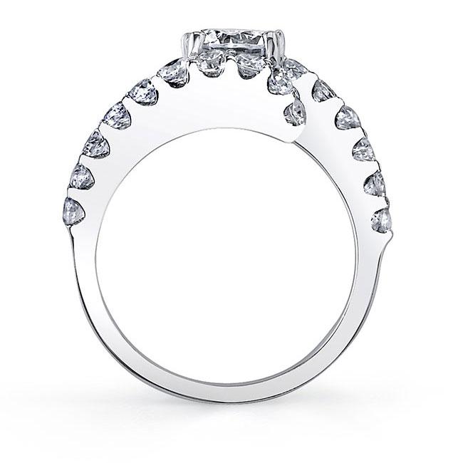 Split Shank Moissanite Engagement Ring MOI-7737L Image 2