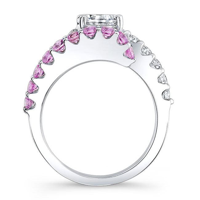 Pink Sapphire Engagement Ring 7737LPS Image 2