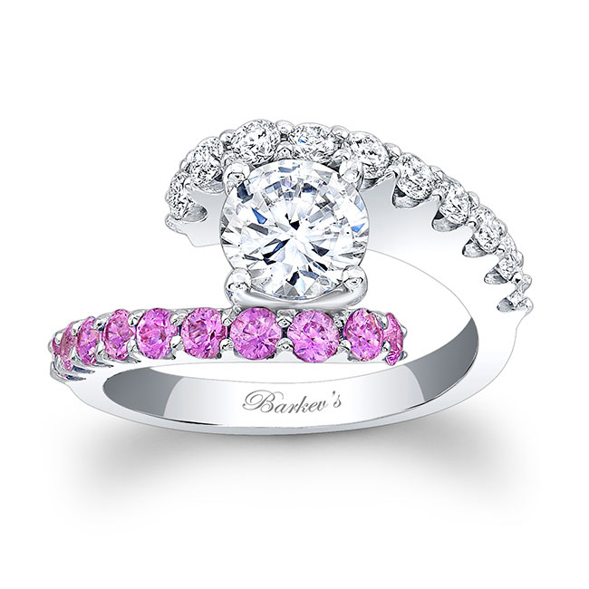 Pink Sapphire Engagement Ring 7737LPS Image 1