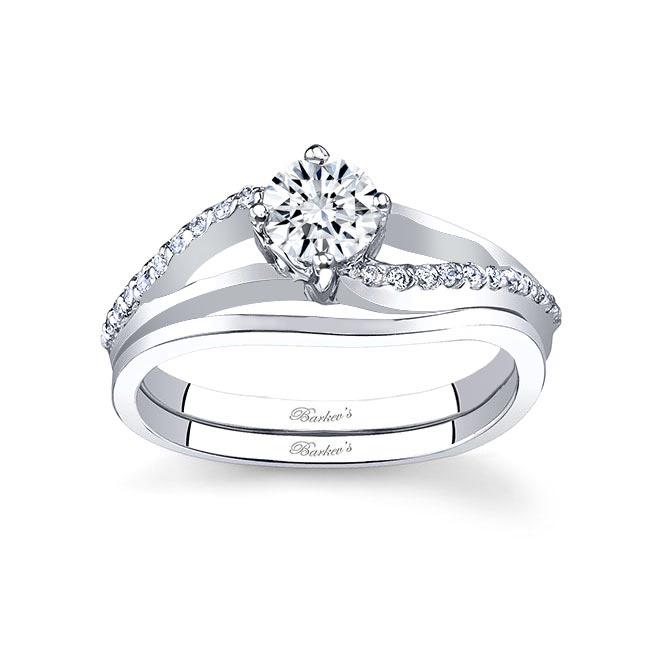 White gold diamond engagement ring set 7755S