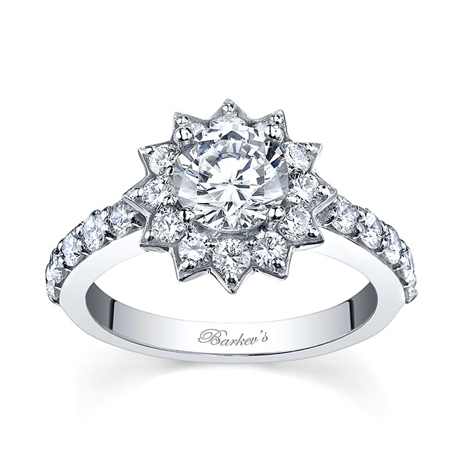 Starnish Halo Engagement Ring 7812L Image 1