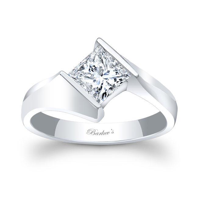 Princess Cut Moissanite Solitaire Ring MOI-7824L