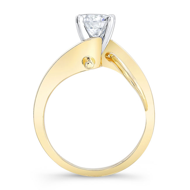 Moissanite Solitaire Engagement Ring MOI-7829L Image 2