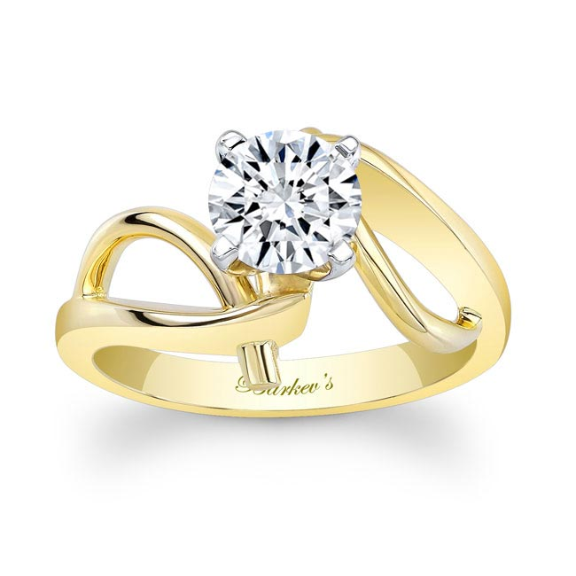 Moissanite Solitaire Engagement Ring MOI-7829L Image 1