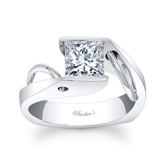 Princess Cut Moissanite Solitaire Ring MOI-7831L
