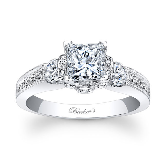 Princess Cut Engagement Ring 7832L