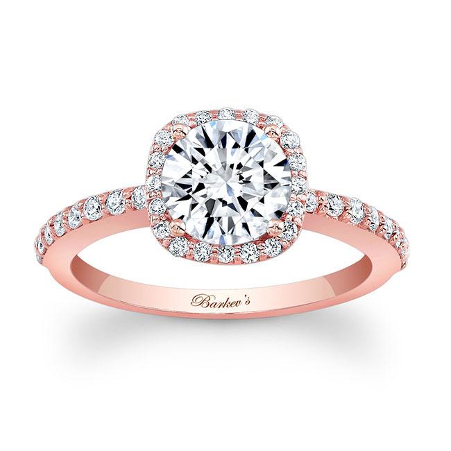 1 Carat Round Halo Engagement Ring Image 1