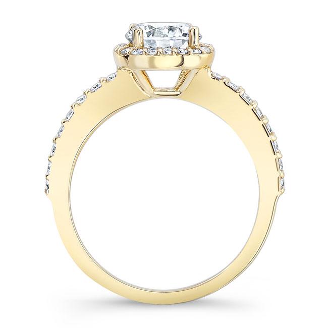 1 Carat Round Halo Engagement Ring Image 2
