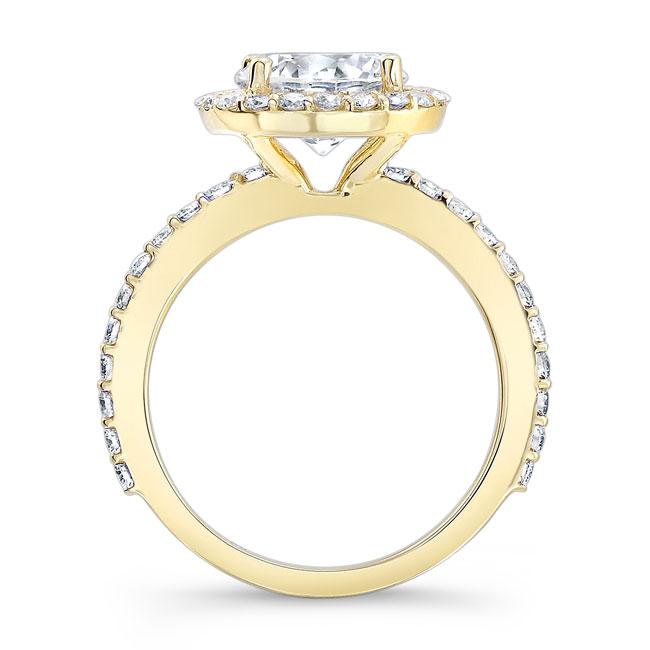 2.00ct. Moissanite White Gold Engagement Ring MOI-7839L Image 2