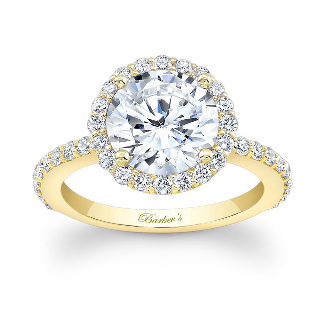 2.00ct. Moissanite White Gold Engagement Ring MOI-7839L Image 1