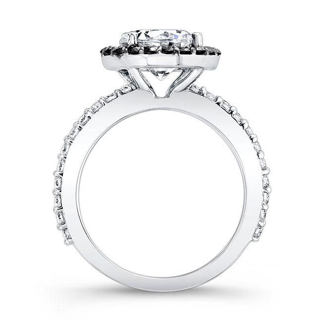 2.00ct. Round Engagement Ring With Black Diamonds 7839LBK Image 2