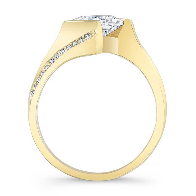 Princess Cut Square Moissanite Ring Image 2